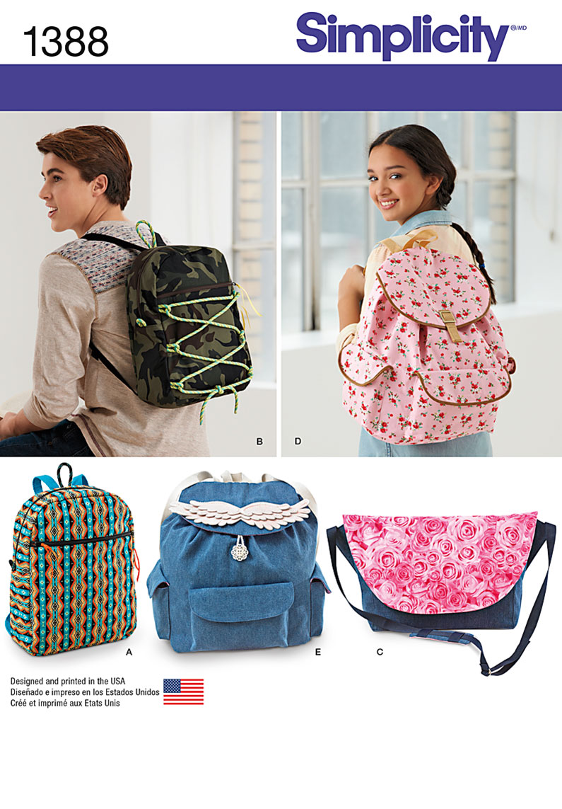 1388 simplicity pattern backpacks and messenger bag 1388 simplicity pattern backpacks and messenger bag jeuxipadfo Choice Image