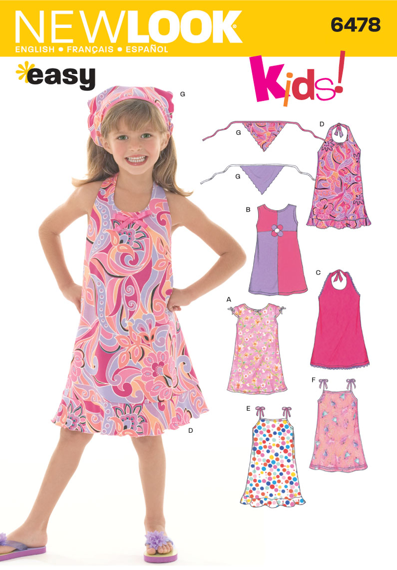 6478 New Look Pattern Child S Dresses