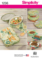 1236 Simplicity Pattern: Casserole Carriers, Gifting Baskets ad Bowl Covers