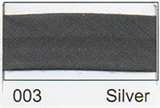 12mm-wide Polycotton Single Fold Bias Binding - 003 Silver Grey