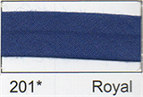 12mm-wide Polycotton Single Fold Bias Binding - 201 Royal Blue