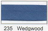 12mm-wide Polycotton Single Fold Bias Binding - 235 Wedgwood Blue