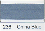 12mm-wide Polycotton Single Fold Bias Binding - 236 China Blue