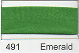 12mm-wide Polycotton Single Fold Bias Binding - 491 Emerald