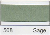 12mm-wide Polycotton Single Fold Bias Binding - 508 Sage