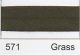 12mm-wide Polycotton Single Fold Bias Binding - 571 Grass