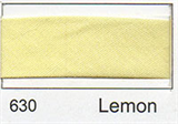12mm-wide Polycotton Single Fold Bias Binding - 630 Lemon