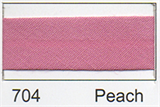 12mm-wide Polycotton Single Fold Bias Binding - 704 Peach