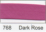 12mm-wide Polycotton Single Fold Bias Binding - 768 Dark Rose