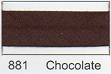 12mm-wide Polycotton Single Fold Bias Binding - 881 Chocolate