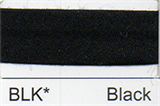 12mm-wide Polycotton Single Fold Bias Binding - BLK Black