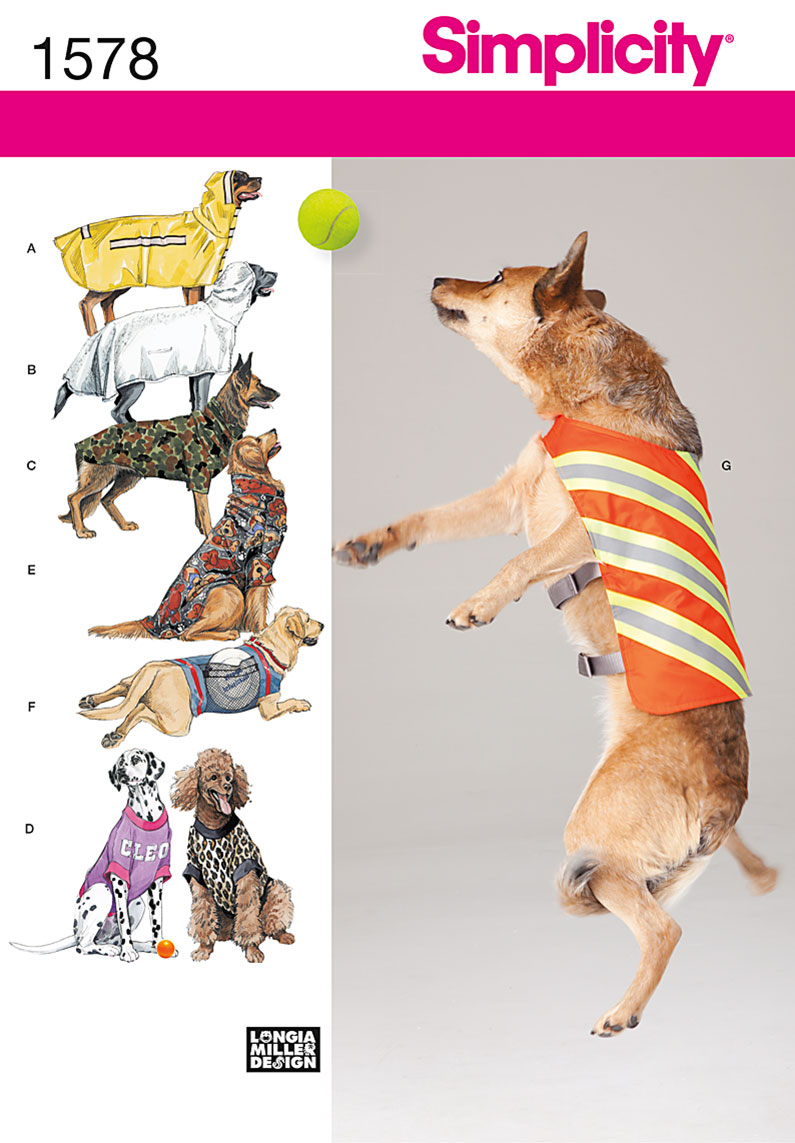 1578 Simplicity Pattern Large Size Dog Clothes