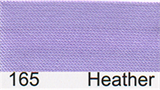 15mm-wide Polysatin Bias Binding - 165 Heather