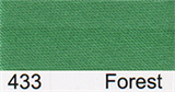 15mm-wide Polysatin Bias Binding - 433 Forest Green