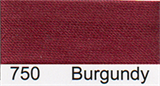 15mm-wide Polysatin Bias Binding - 750 Burgundy