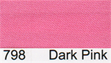 15mm-wide Polysatin Bias Binding - 798 Dark Pink