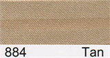 15mm-wide Polysatin Bias Binding - 884 Tan