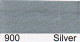 15mm-wide Polysatin Bias Binding - 900 Silver