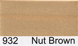 15mm-wide Polysatin Bias Binding - 932 Nut Brown