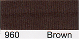 15mm-wide Polysatin Bias Binding - 960 Brown
