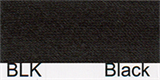 15mm-wide Polysatin Bias Binding - BLK Black