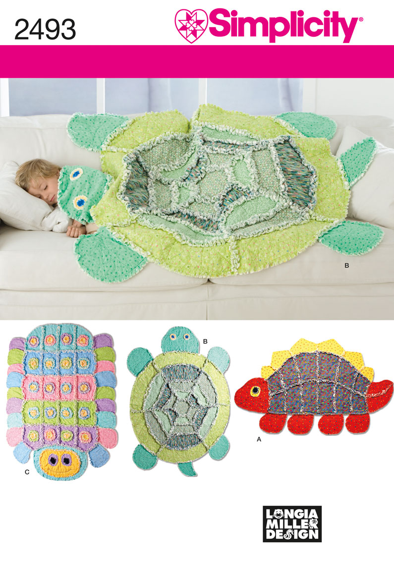 2493 Simplicity Pattern Rag Quilts