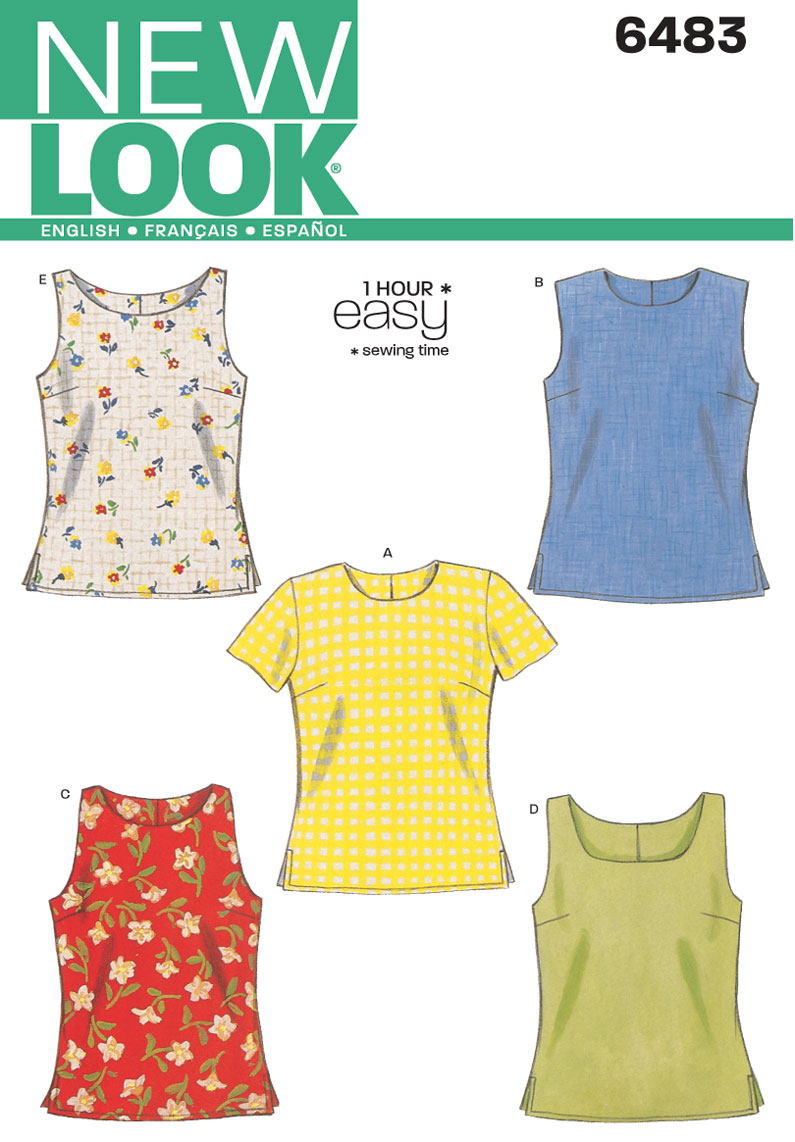6483 New Look Pattern Misses Tops
