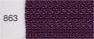 Invisible / Concealed Nylon Zipper - Colour 863 - Damson