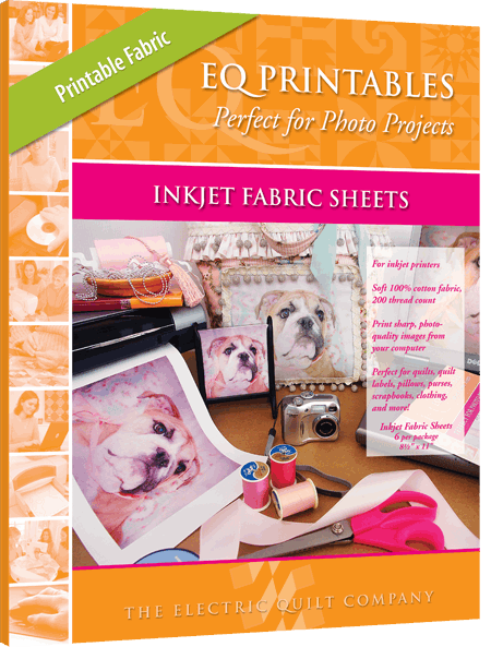 graphic relating to Printable Fabric Paper named EQ Printables - Printable 100% Cotton Material