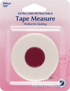 Hemline Extra Long Retractable Tape Measure - 3m / 120ins