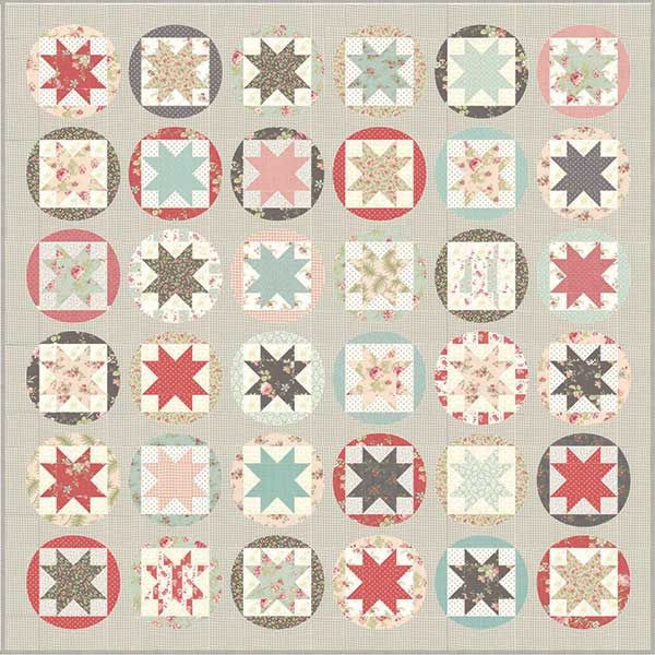 Moda Poetry Quilt Top Kit By 3 Sisters Finished Size 76 X 76