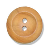 Olive Wood Button - Two Holes, Natural Wood - Choose Size 15mm-28mm