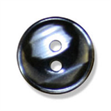 Polyester Striped Button - Black and White - 12mm