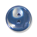 Polyester Striped Button - Navy and White - 12mm